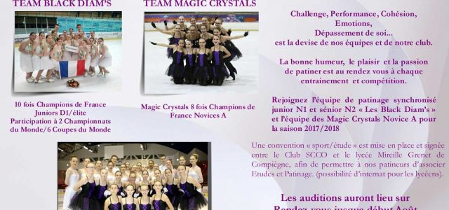 Auditions Black Diam's et Magic Crystals